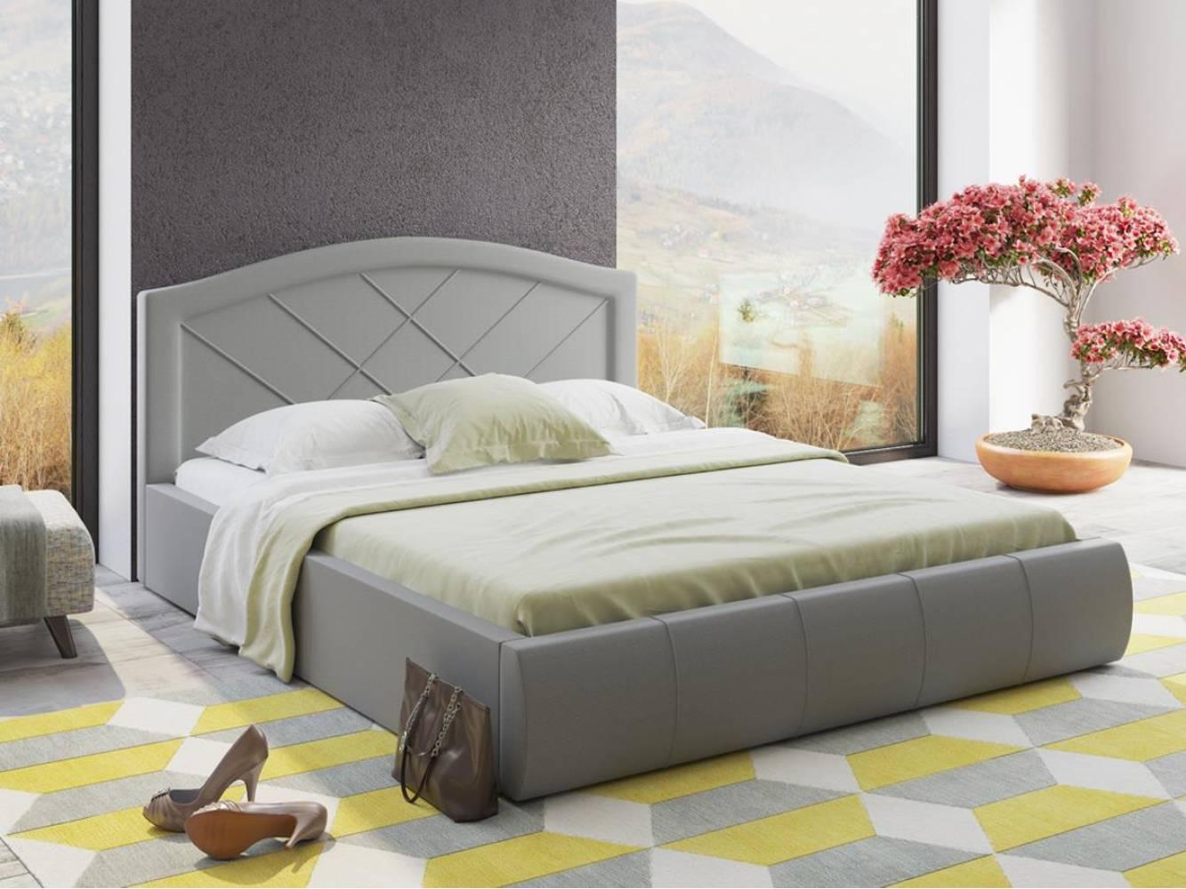 Кровать 1600 с подъемным механизмом ВИГО (Савана Грей) Нижегородмебель