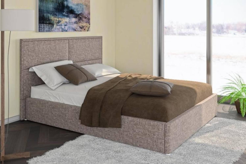 Кровать 1600 с подъемным механизмом ПРАГА (Савана Латте) Нижегородмебель