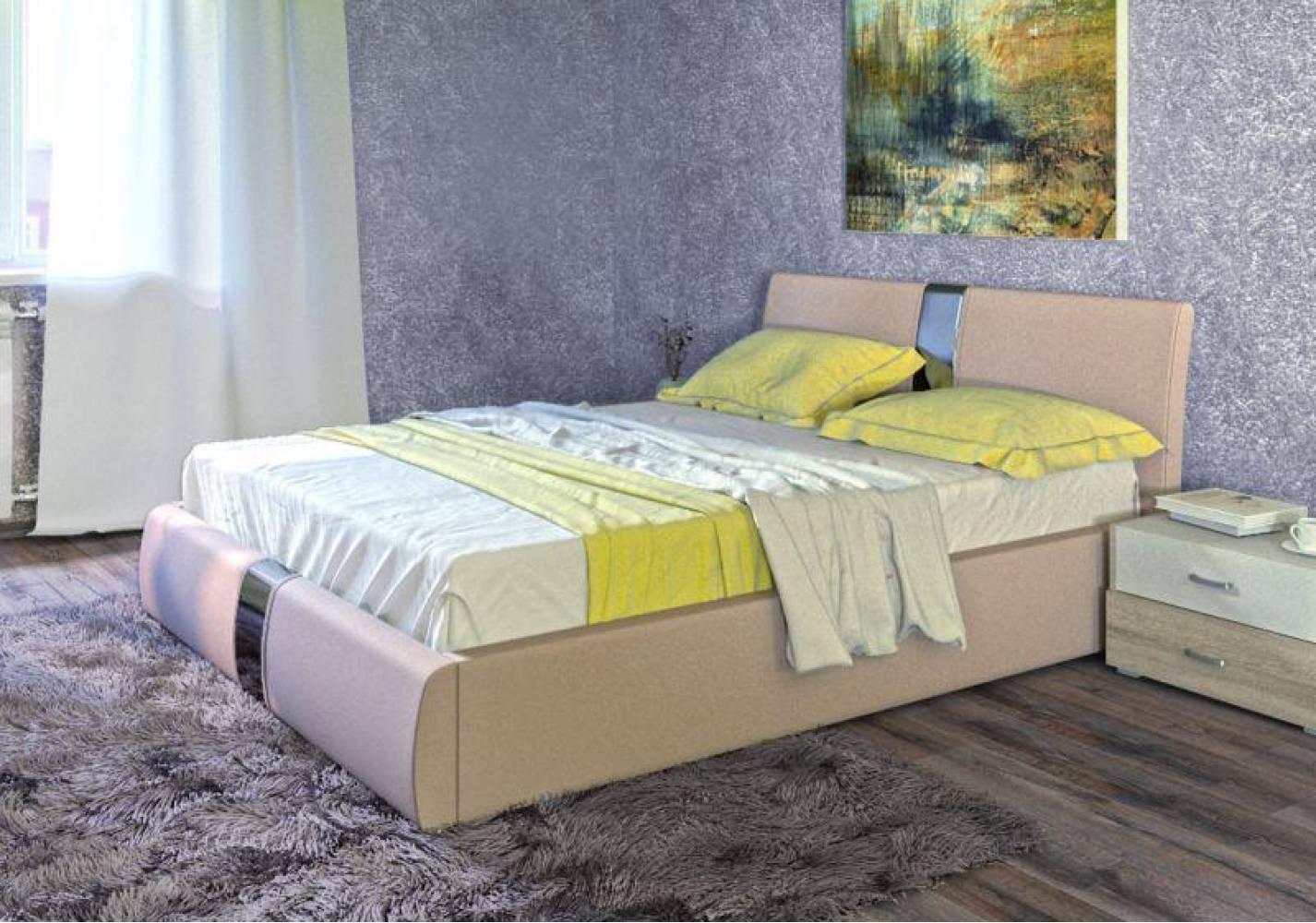 Кровать 1600 с подъемным механизмом ЧЕЛСИ (Гранд Натурель) Нижегородмебель