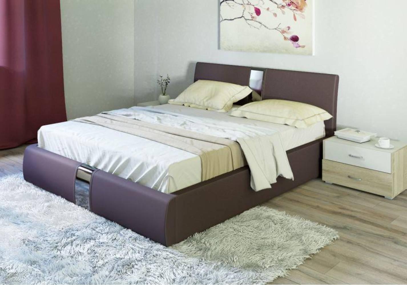 Кровать 1600 с подъемным механизмом ЧЕЛСИ (Гранд Шоколад) Нижегородмебель