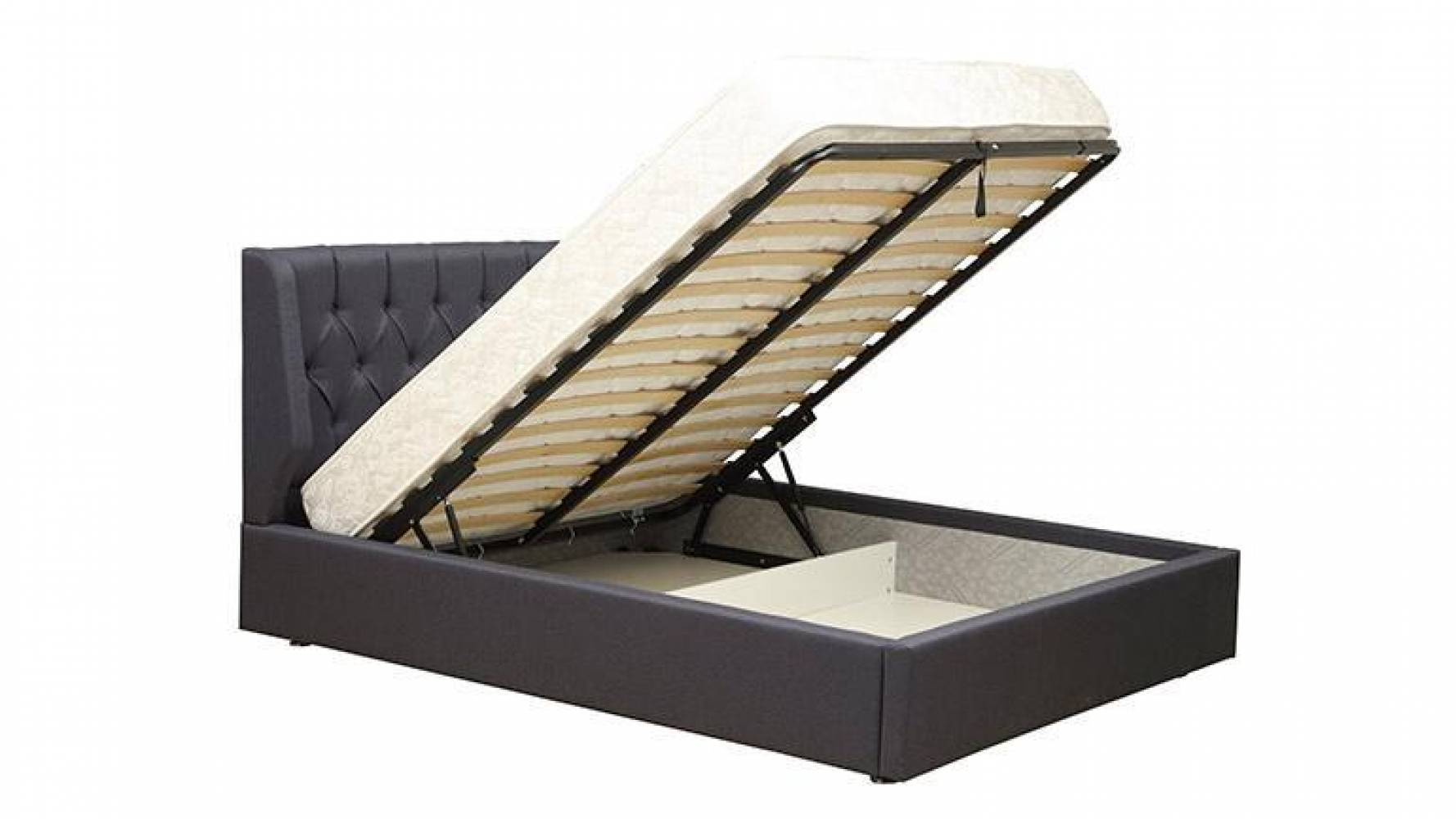 Кровать  ДИОНИС с подъемным механизмом Олмеко (ягуар блю)