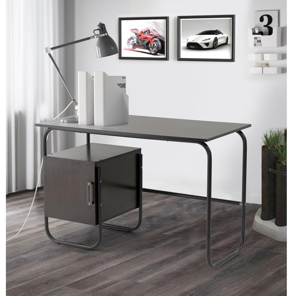 Стол письменный с универсальным расположением тумбы (Венге) Delice
