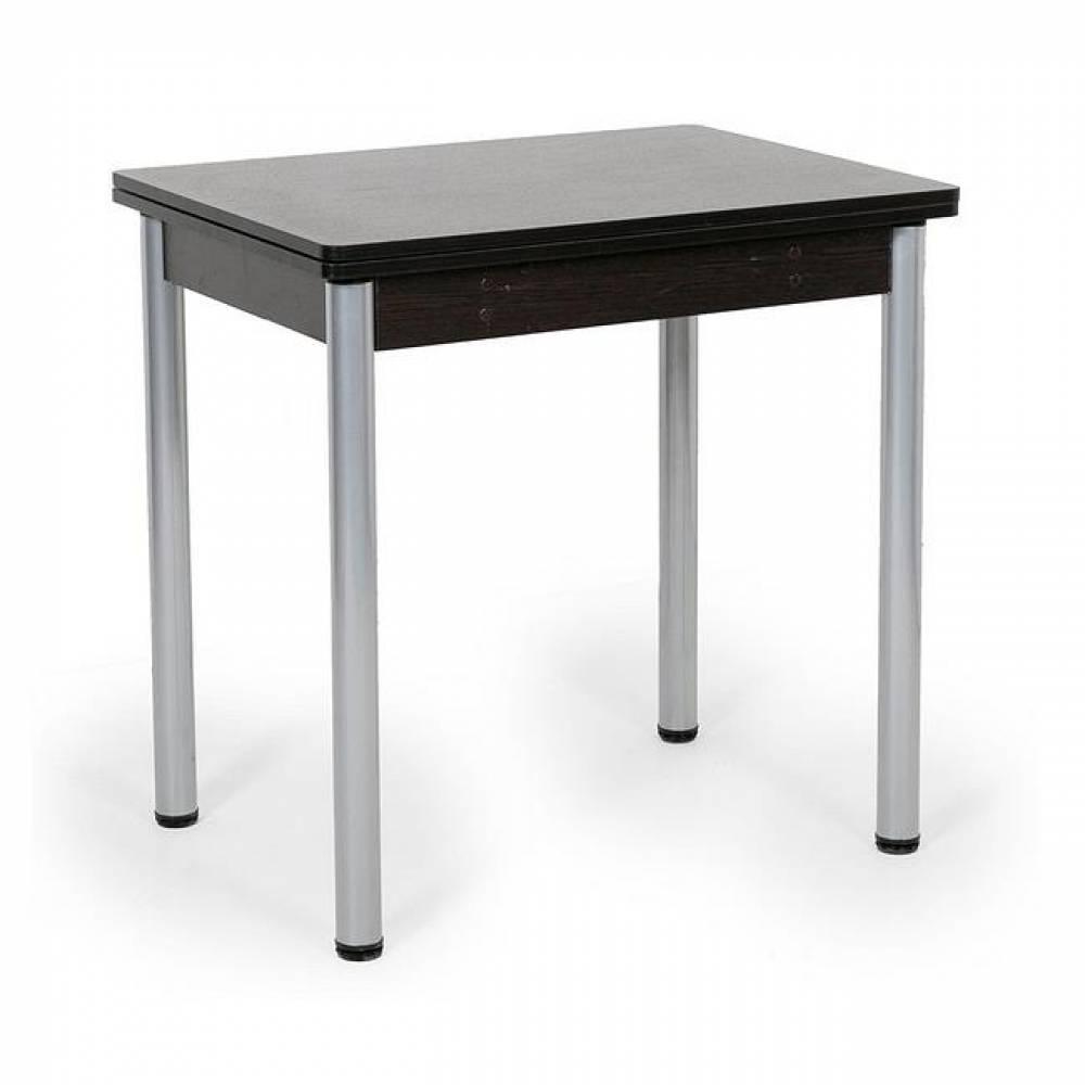 Стол поворотно-откидной ПИРУЭТ с хромированной прямой опорой (Венге) Delice