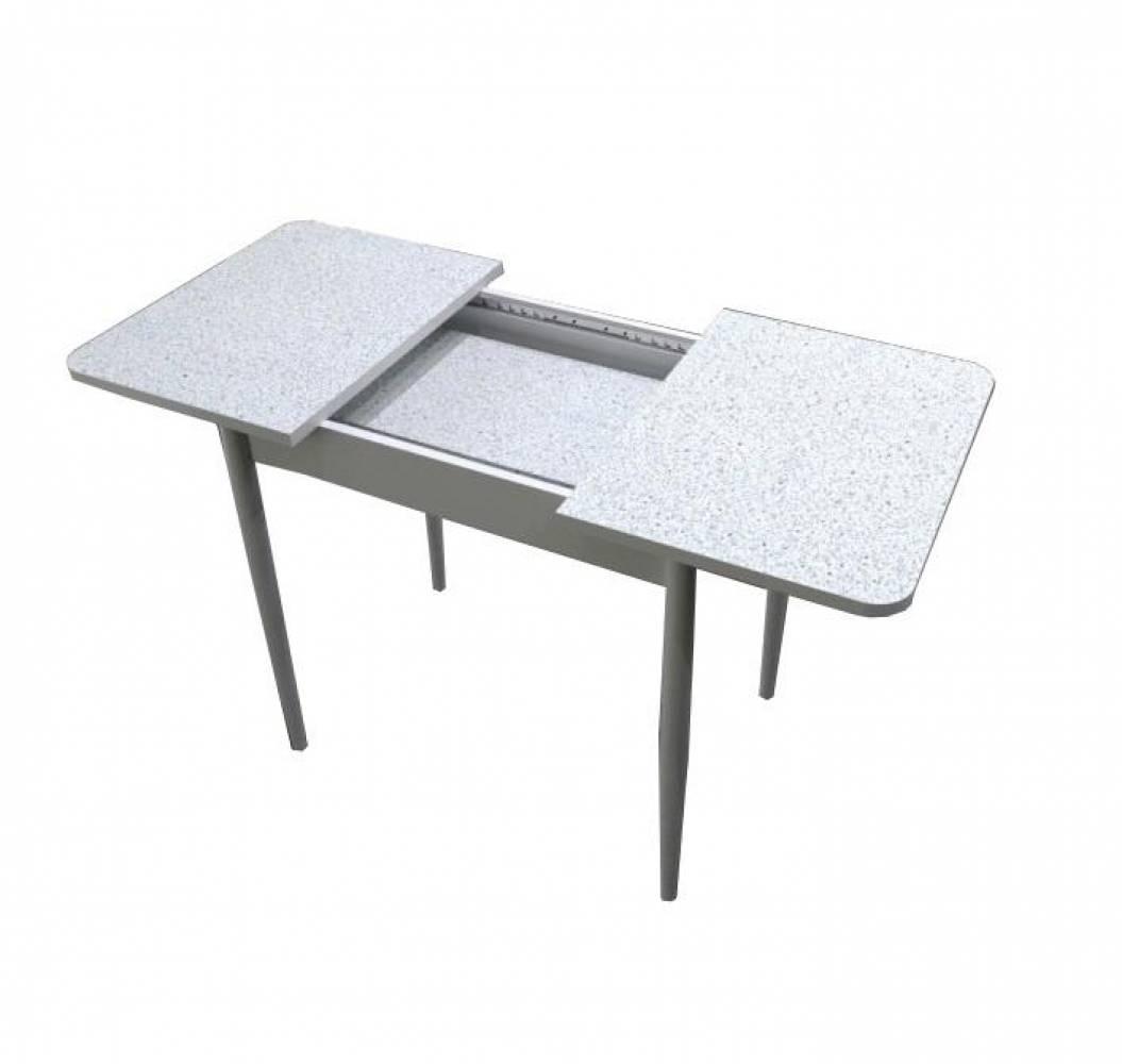 Стол раскладной КАРМЕН с хромированной прямой опорой Delice
