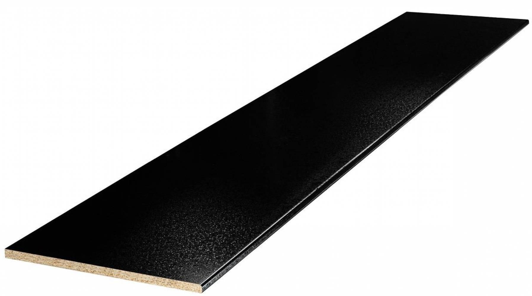 Столешница № 62 Черный королевский жемчуг 26 мм Матовая Скиф, цена  за пог/метр