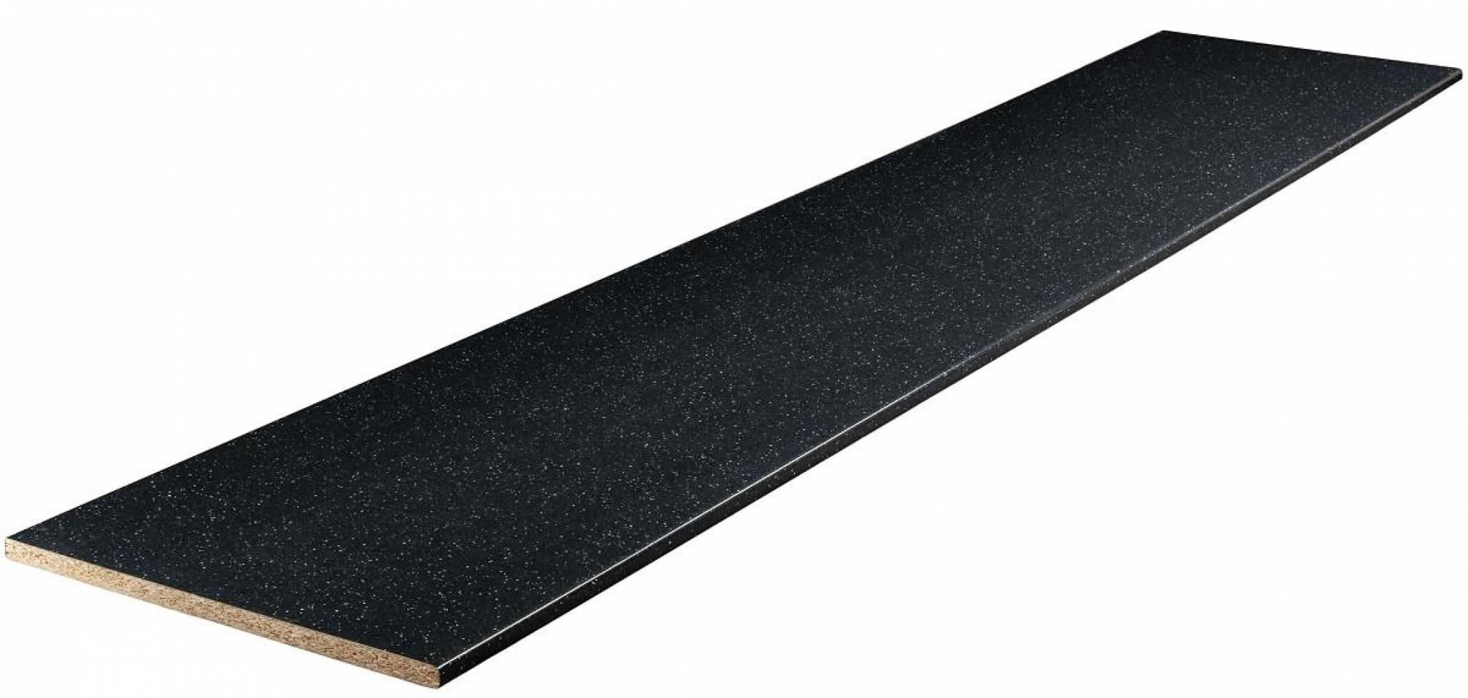 Столешница № 56 ГЛ Ледяная искра темная 38 мм Глянцевая Скиф, цена  за пог/метр