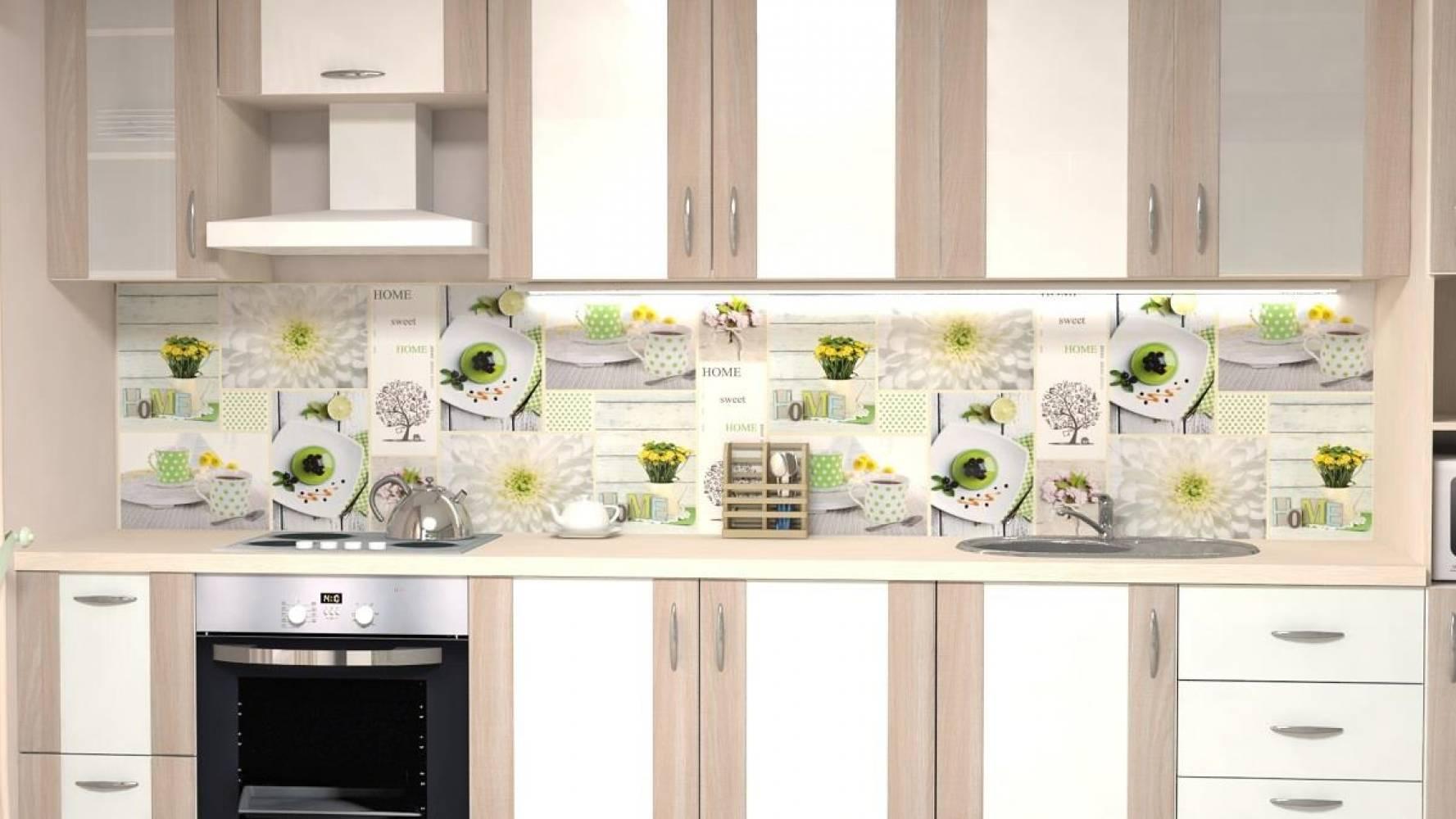 Кухонная панель F-05 Домашний десерт Глянцевая ALDIO