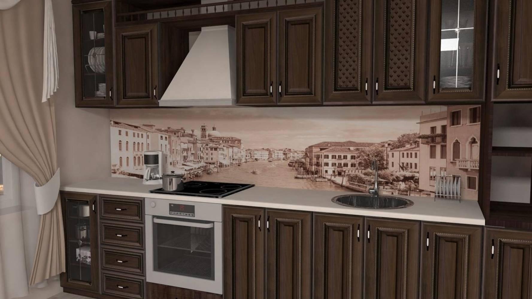 Кухонная панель F-41 Венеция Глянцевая ALDIO
