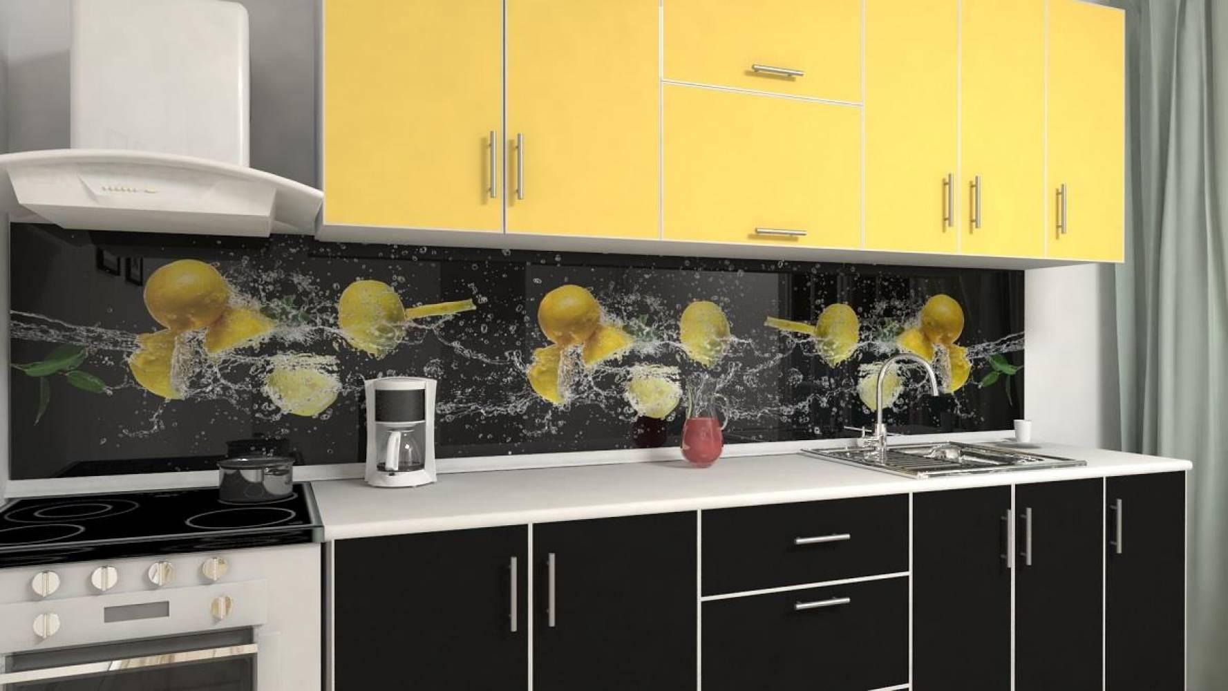 Кухонная панель AF-44 Лимонад Глянцевая ALDIO