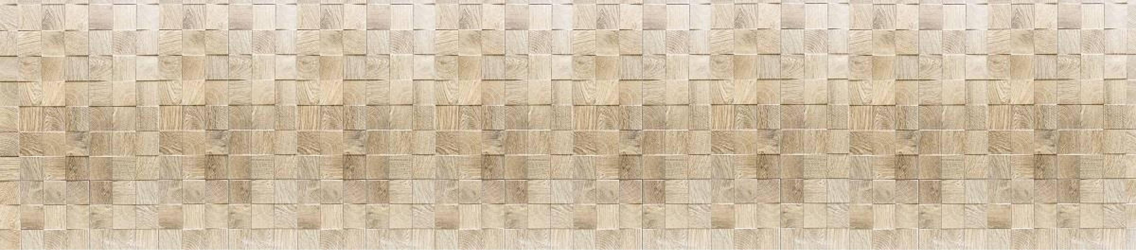 Кухонная панель 2800 мм AL-11 Деревянная плитка Матовая ALDIO