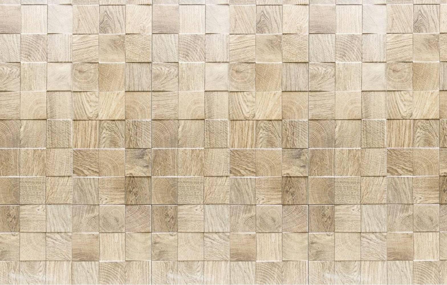 Кухонная панель 930 мм AL-11 Деревянная плитка Матовая ALDIO