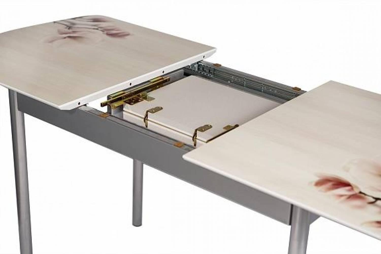 Стол раздвижной фотопечать 1200(1550) Магнолии S 3 ALDIO