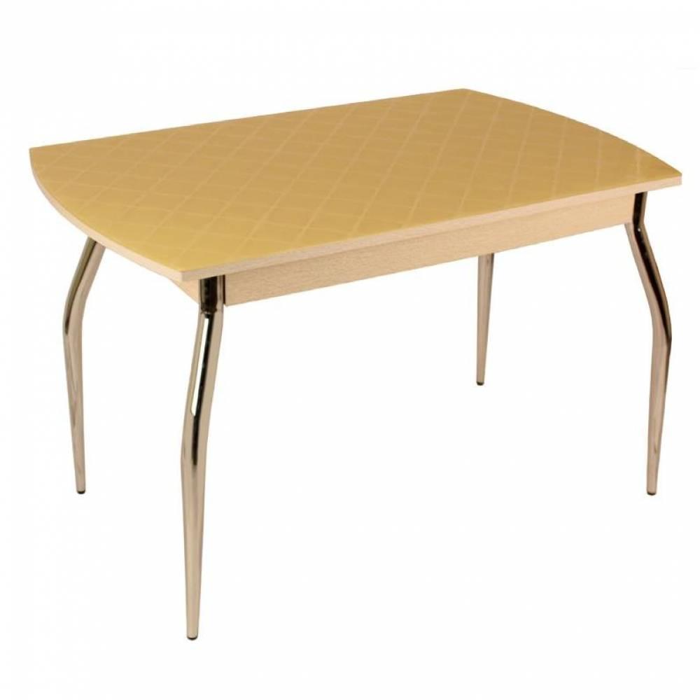 Стол обеденный 5.1 фуджи ваниль\дуб белёный