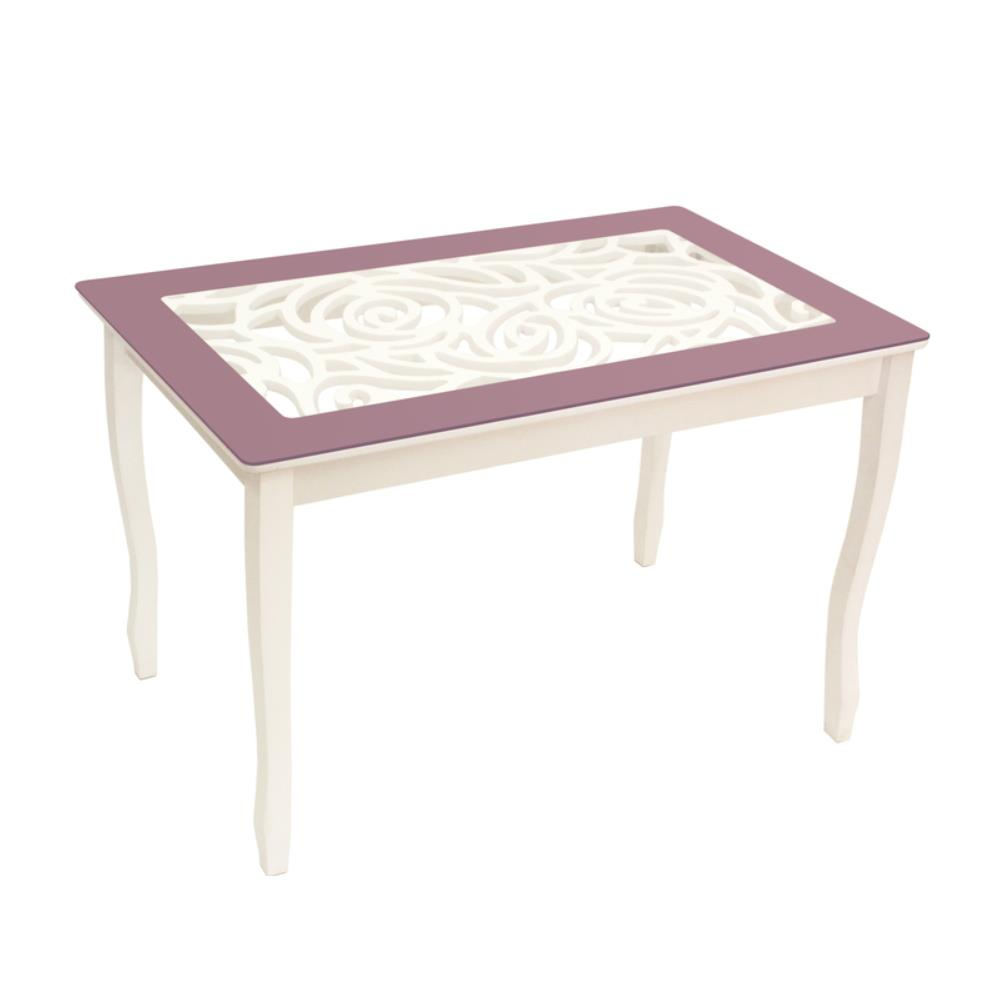 Стол обеденный СТИЛЬ 2 Ажур фиолетовый/триумф белый