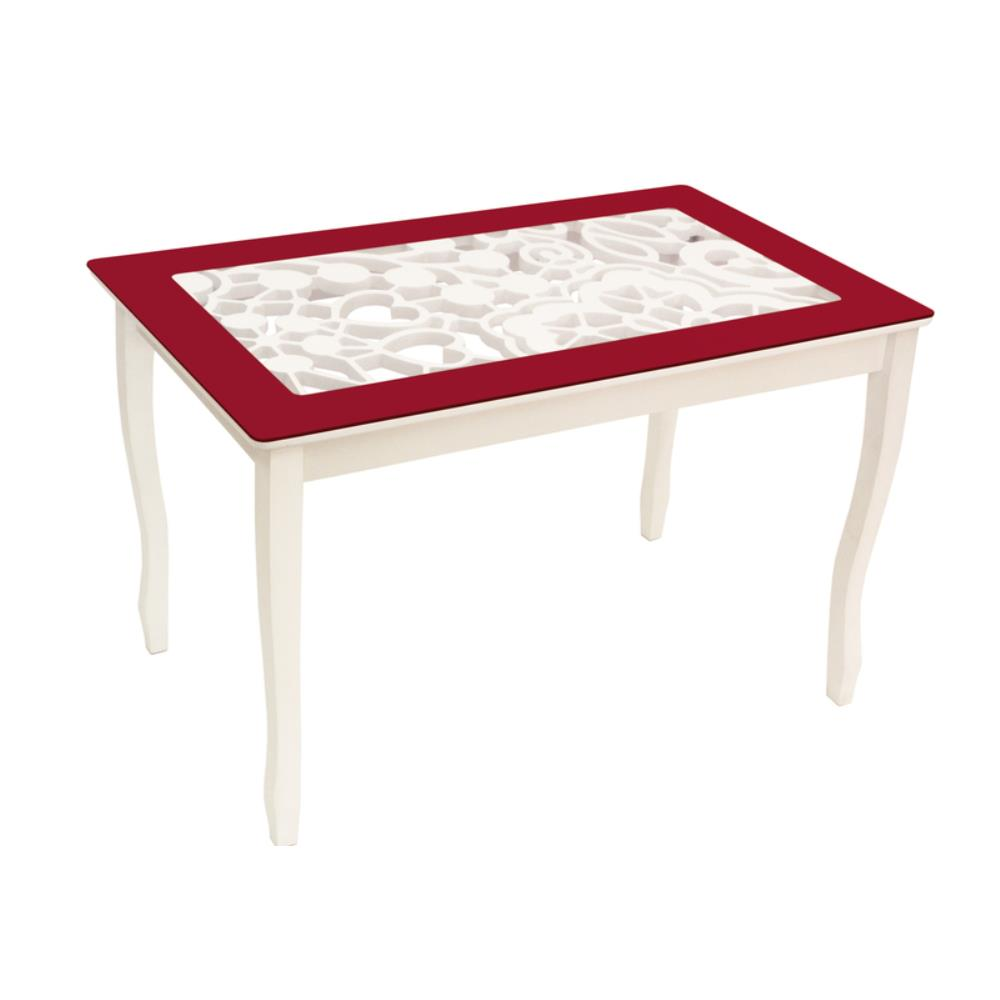 Стол обеденный СТИЛЬ 2 Ажур III бордовый/триумф белый