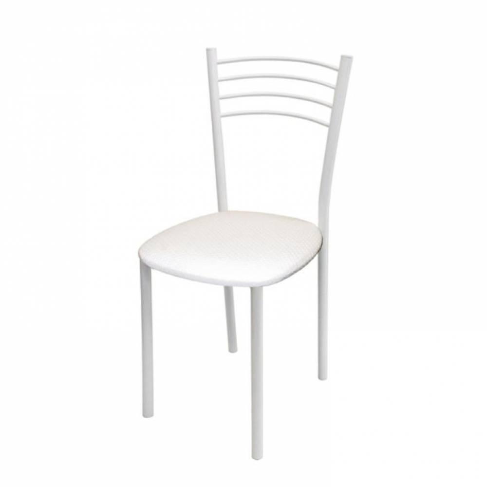 Стул, Тюльпан МИС белый муар/пунто белый