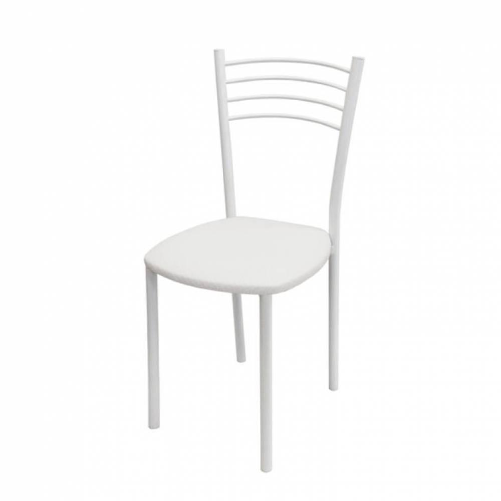 Стул, Тюльпан МИС белый муар/белый