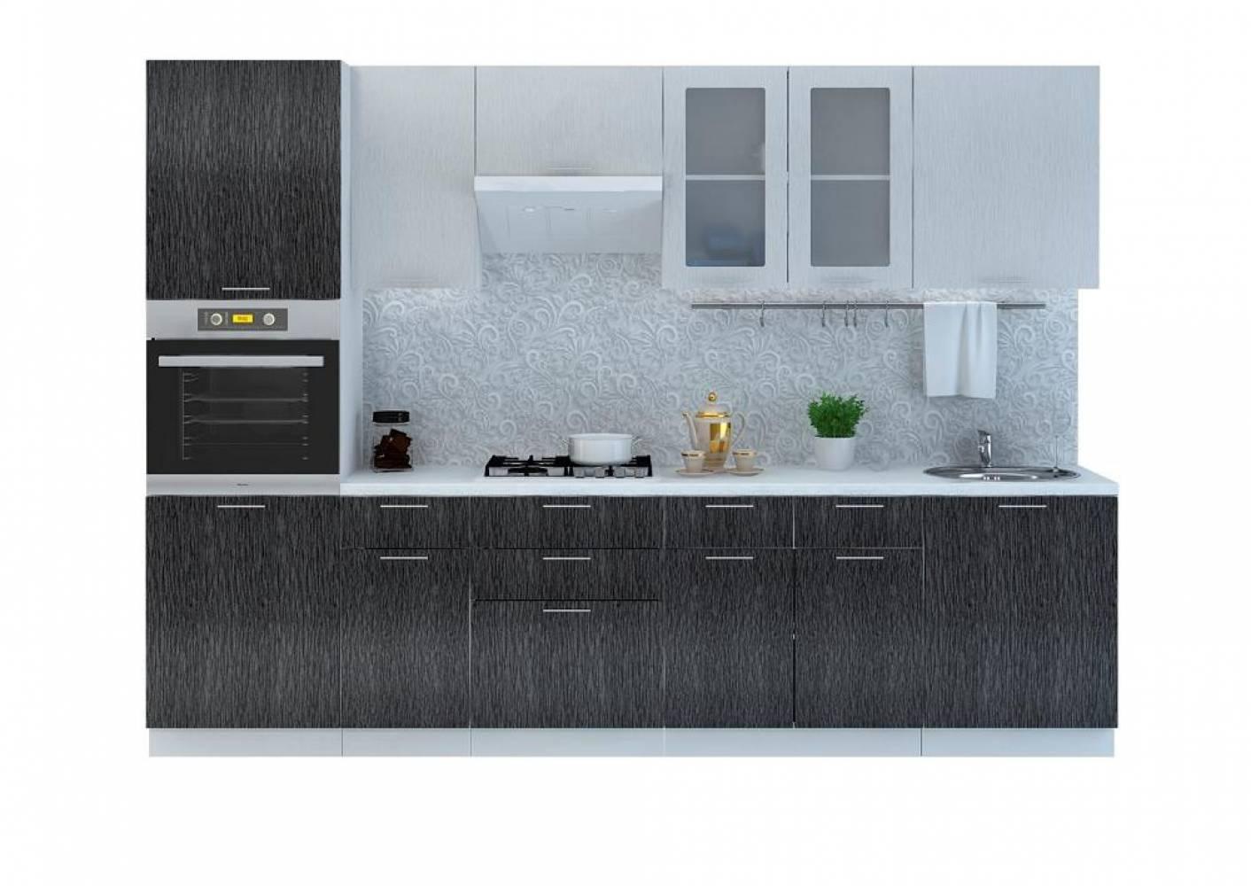 Кухня ВАЛЕРИЯ 2 (Гранатовый металлик) (5 цветов фасадов) Сурская мебель