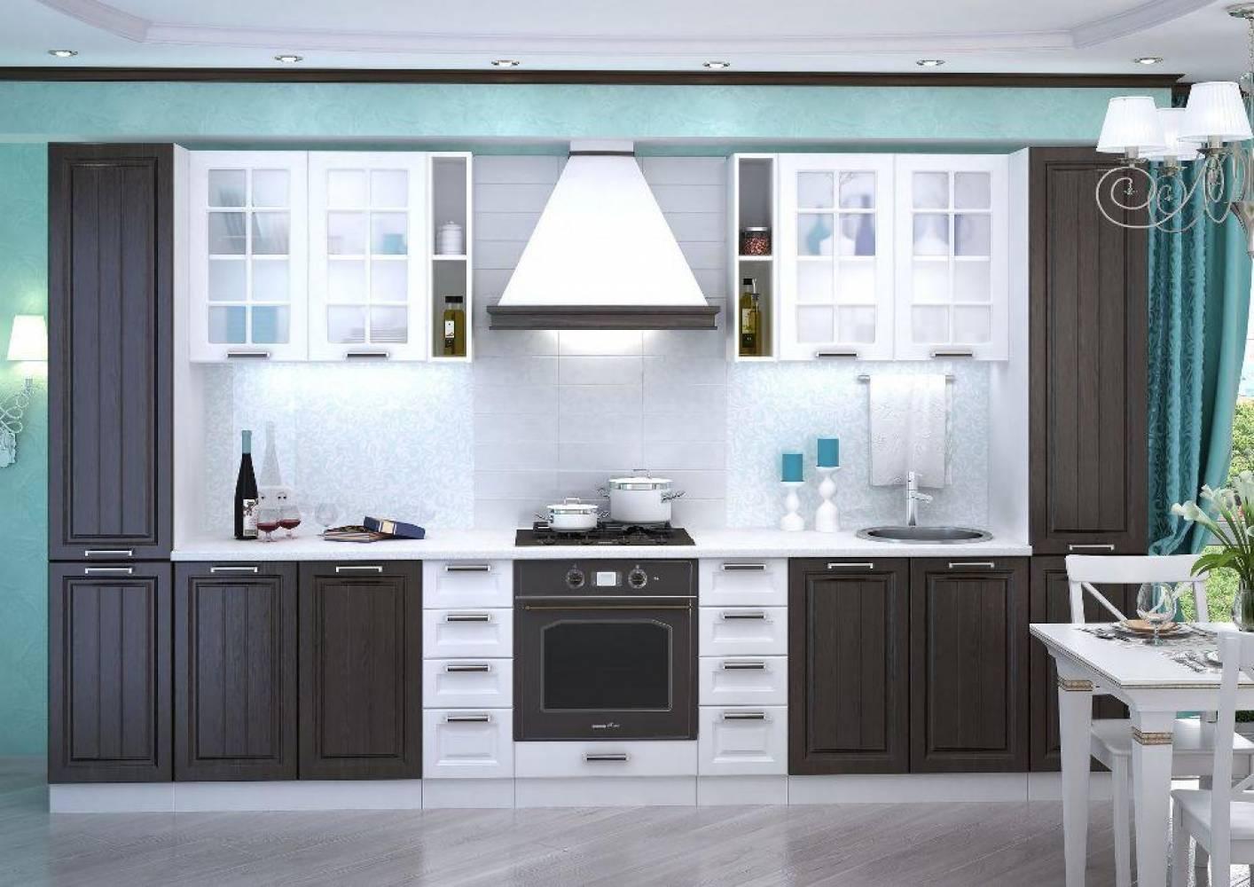 Кухня ПРАГА (Белое дерево) (3 цвета фасадов) Сурская мебель