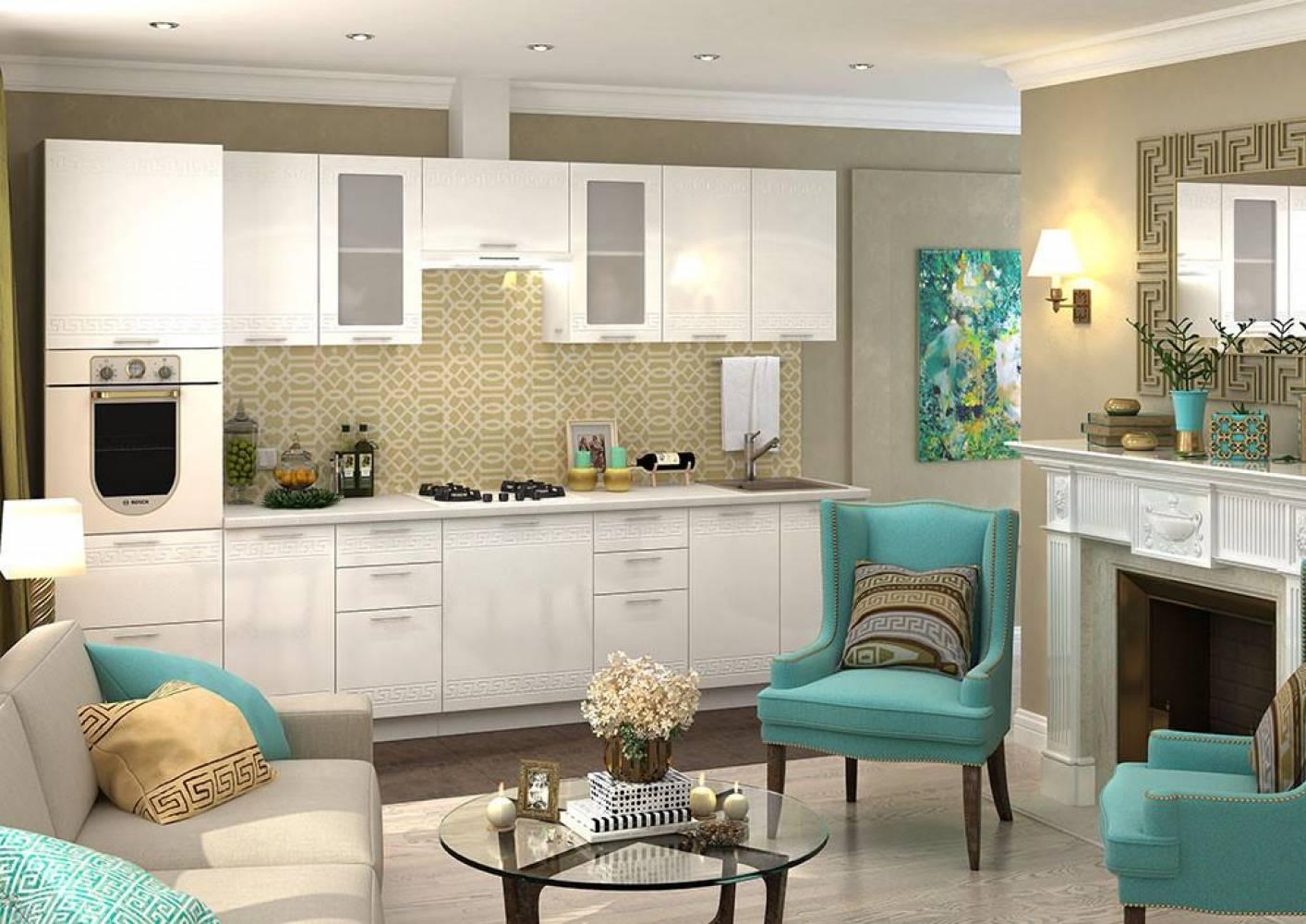 Кухня  ГРЕЦИЯ (Гранатовый металлик) (2 цвета фасадов) Сурская мебель