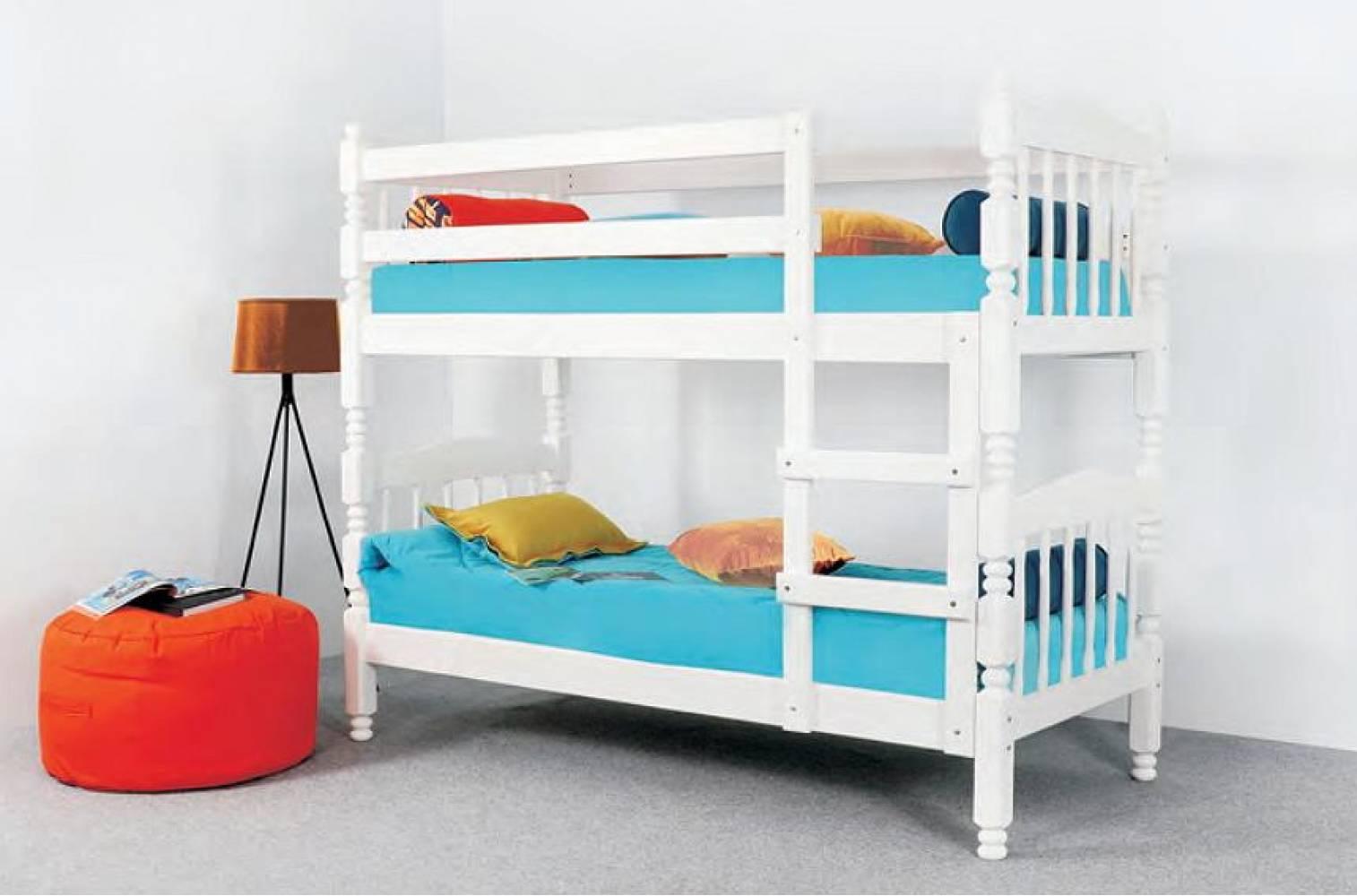 Кровать двухъярусная ЛЮДМИЛА ЛЮКС 1 (Дуб молочный) Мебельград