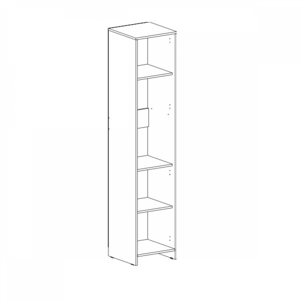 Шкаф 1-дверный СКАУТ (Индиго)