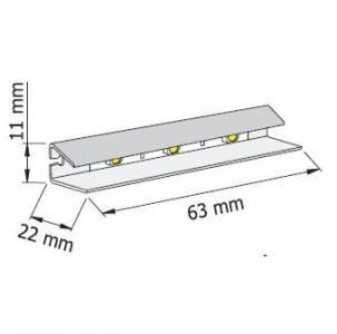 Светильник для подсветки стеклянных полок HLT Prismatic FT (белый)
