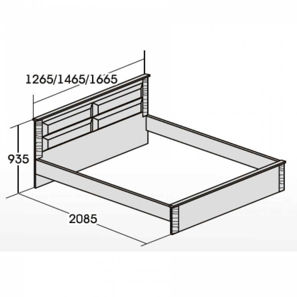 Кровать 900 ЭЛАНА Бодега белая