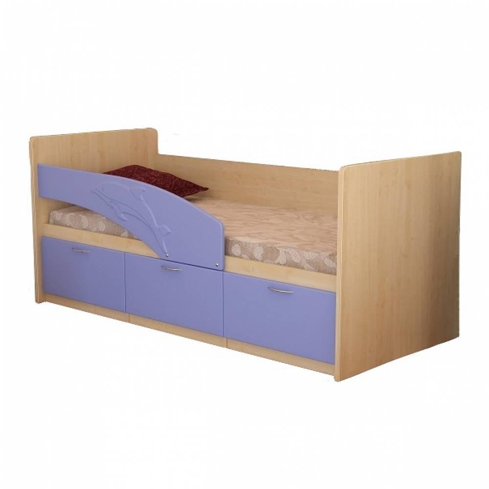 Кровать 800 ПВХ 2,0м ДЕЛЬФИН (сирен метал) Миф
