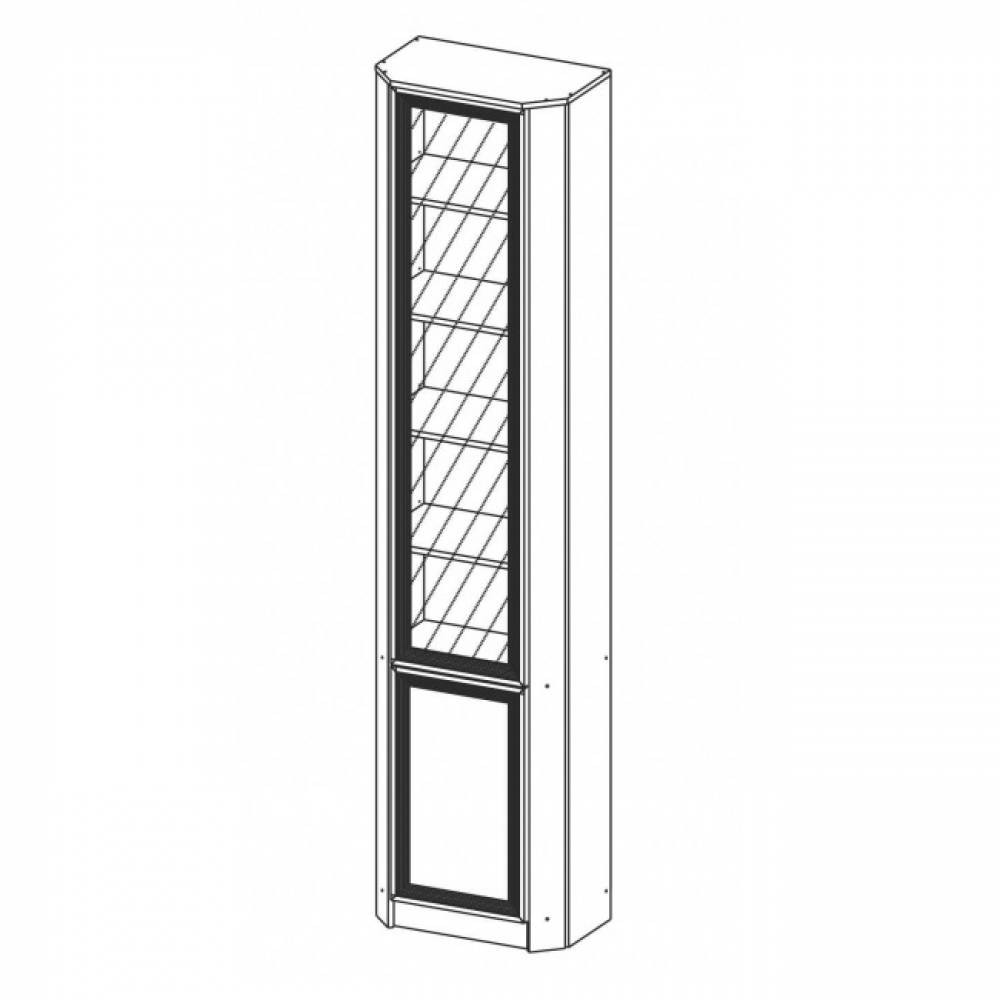 Шкаф комбинированный угловой В-20 (дверь комбинированная)