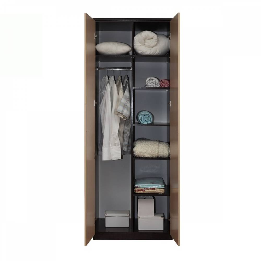 Корпус шкафа для одежды 06.55 СМАРТ (Венге/Дуб Линдберг) Олмеко