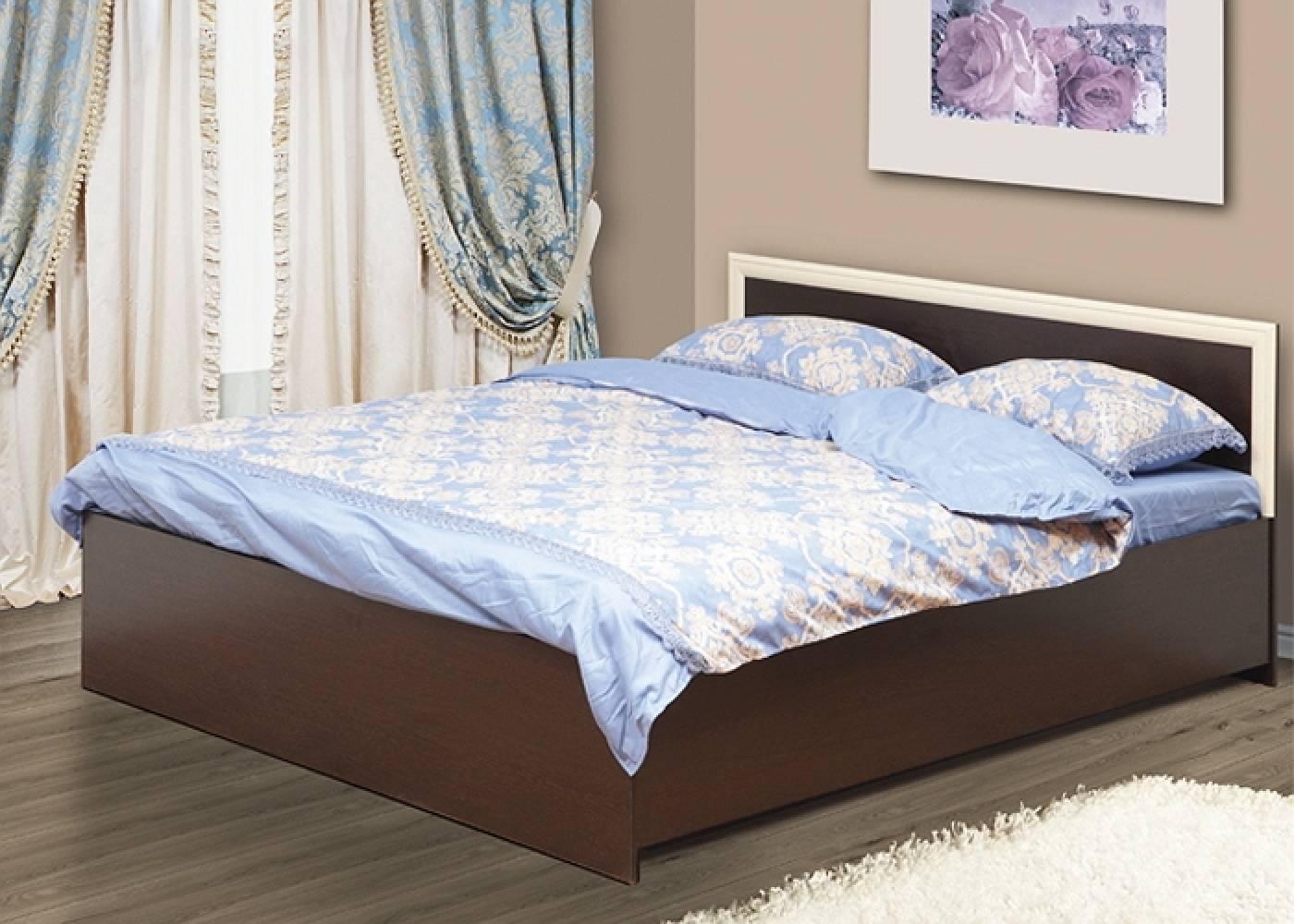 Кровать 1600 с откидным механизмом 21.53 (Венге/Дуб Линдберг) Олмеко