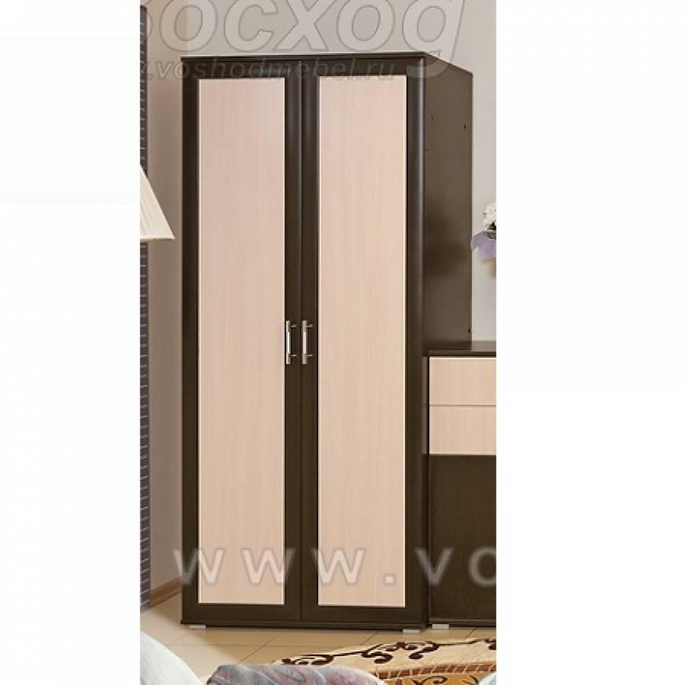 Шкаф 2-дверный ВК-4 ВИКА (Венге/Дуб Молочный) Восход