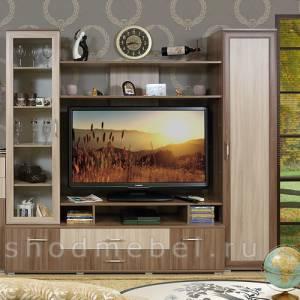 Стенка ТВ ВИКА-2 (Шимо темный/светлый) Восход