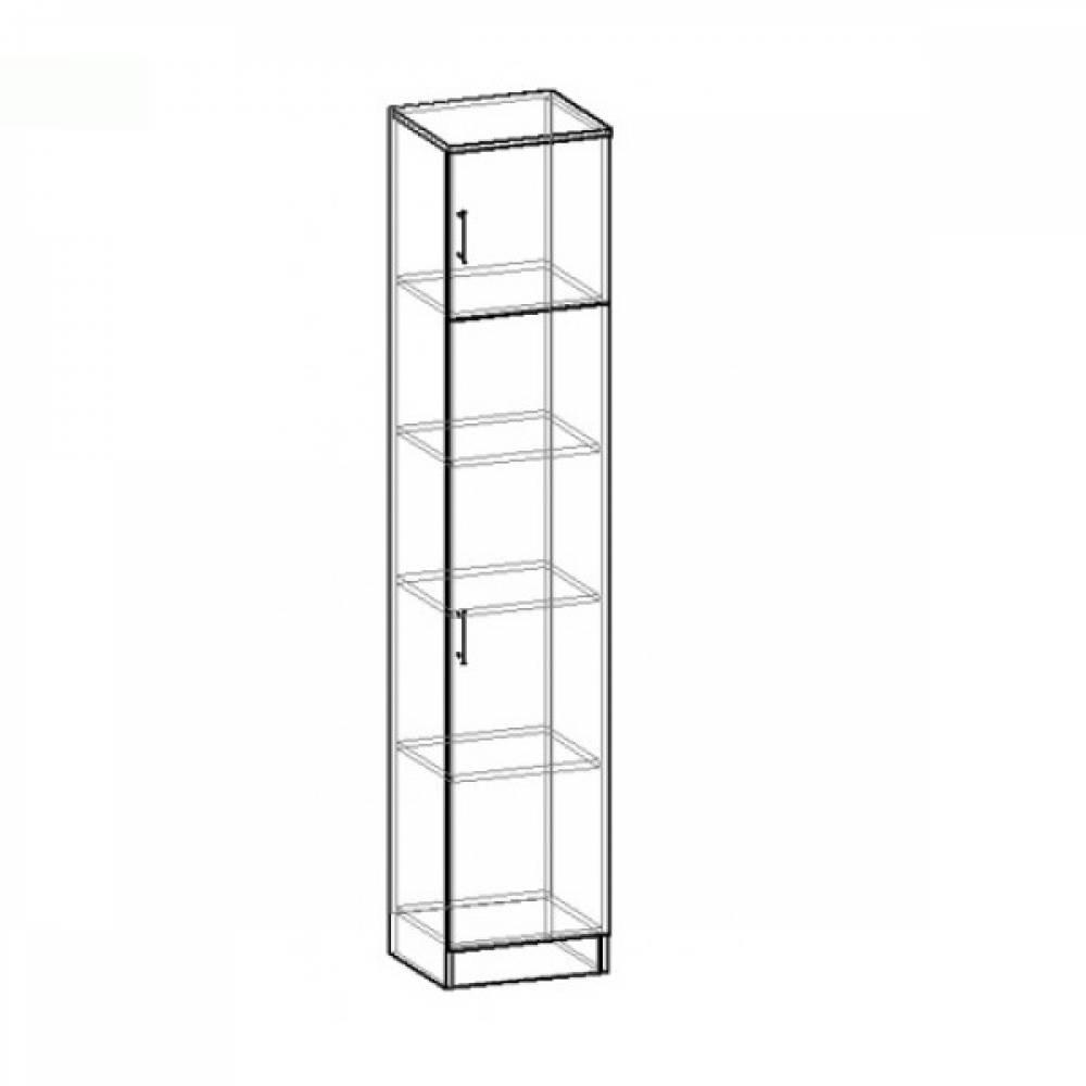 Шкаф 1-дверный М-4 МАШЕНЬКА ЛДСП (Венге/Дуб Молочный)