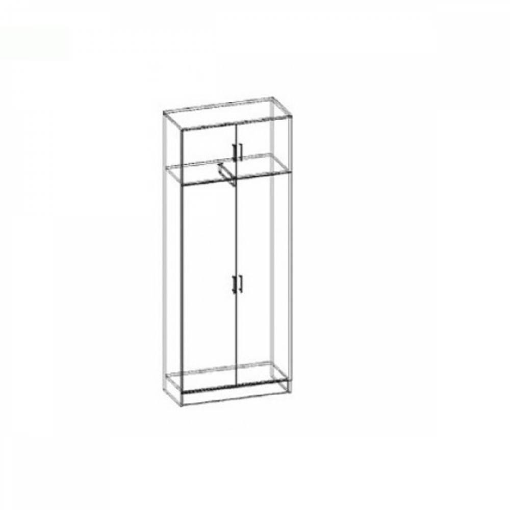 Шкаф 2-дверный М-5 МАШЕНЬКА ЛДСП (Венге/Дуб Молочный)