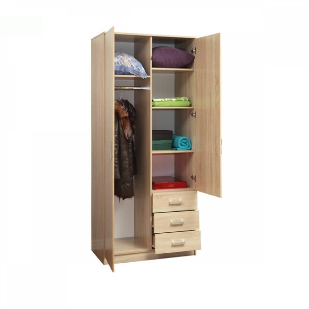 Шкаф комбинированный с зеркалом 06.290 ФРИЗ (Дуб Сонома)
