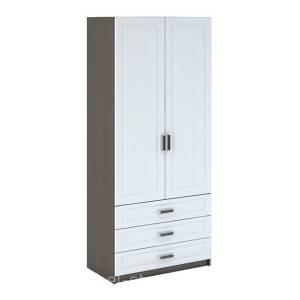 Шкаф 2-створчатый бельевой с ящиками ШК-905 МС ПРАГА