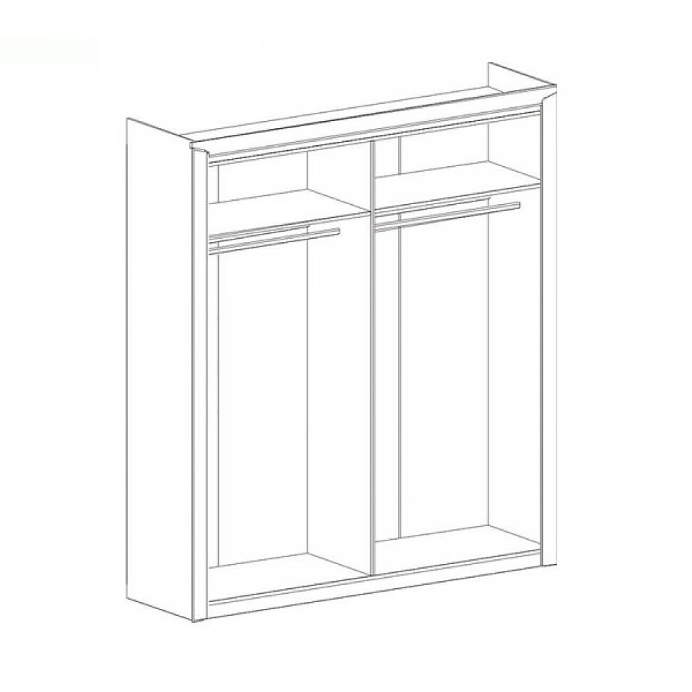 Шкаф 4-дверный СОРЕНТО (Дуб стирлинг)