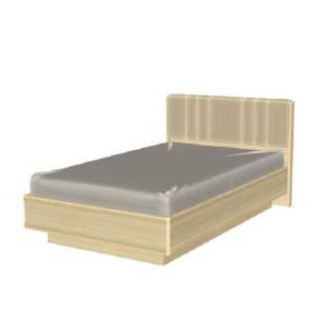 Кровать 1400 с мягким изголовьем КР-1012 КАРИНА (Ясень Асахи)