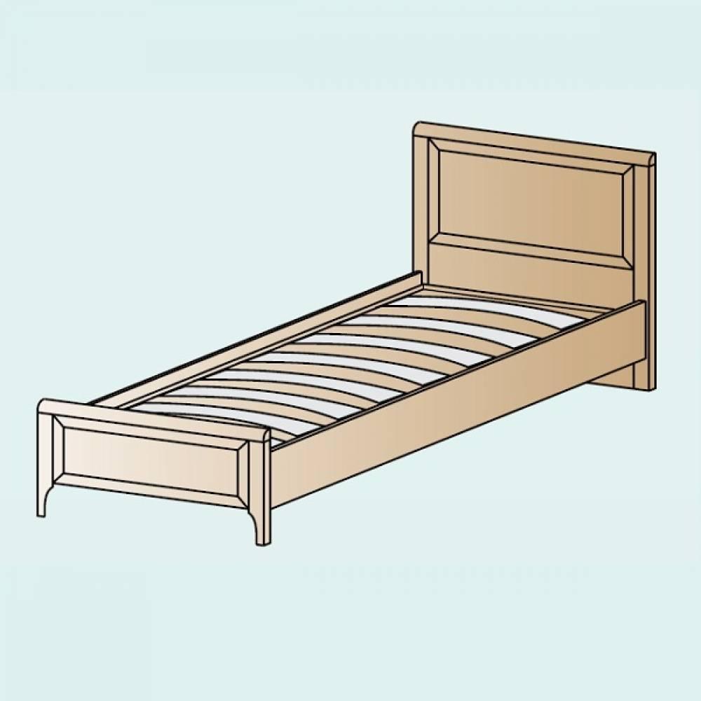 Кровать 900 КР-1025 КАРИНА (Ясень Асахи)