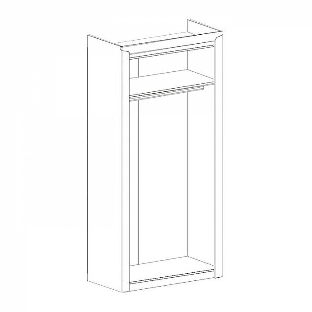 Шкаф 2-дверный СОРЕНТО (Дуб бонифаций)