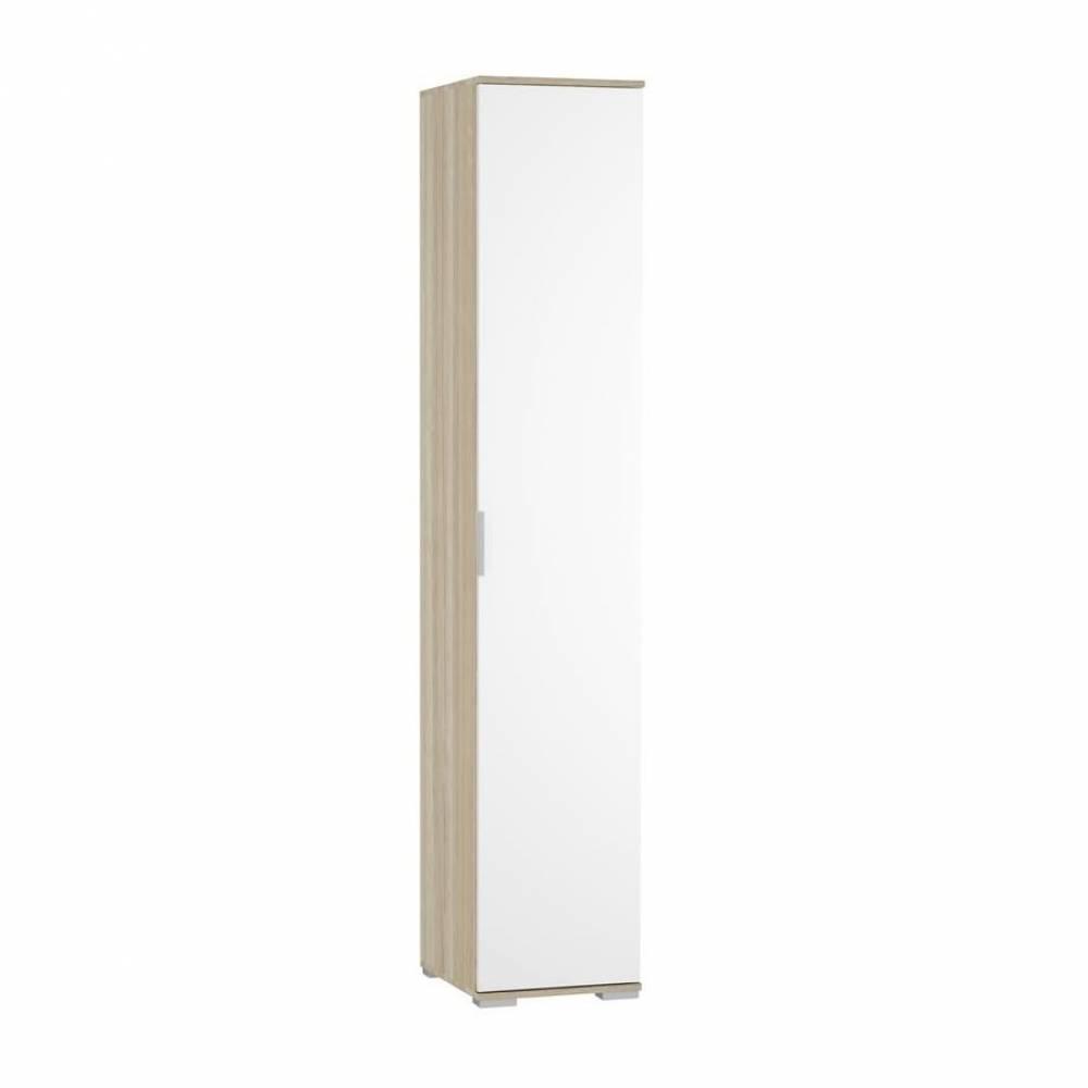 Шкаф 1-дверный с полками ШК-821 ТЕРРА (Дуб Сонома/Белый)