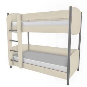 Кровать двухъярусная 900 КР-123 КСЮША (Дуб Беленый)