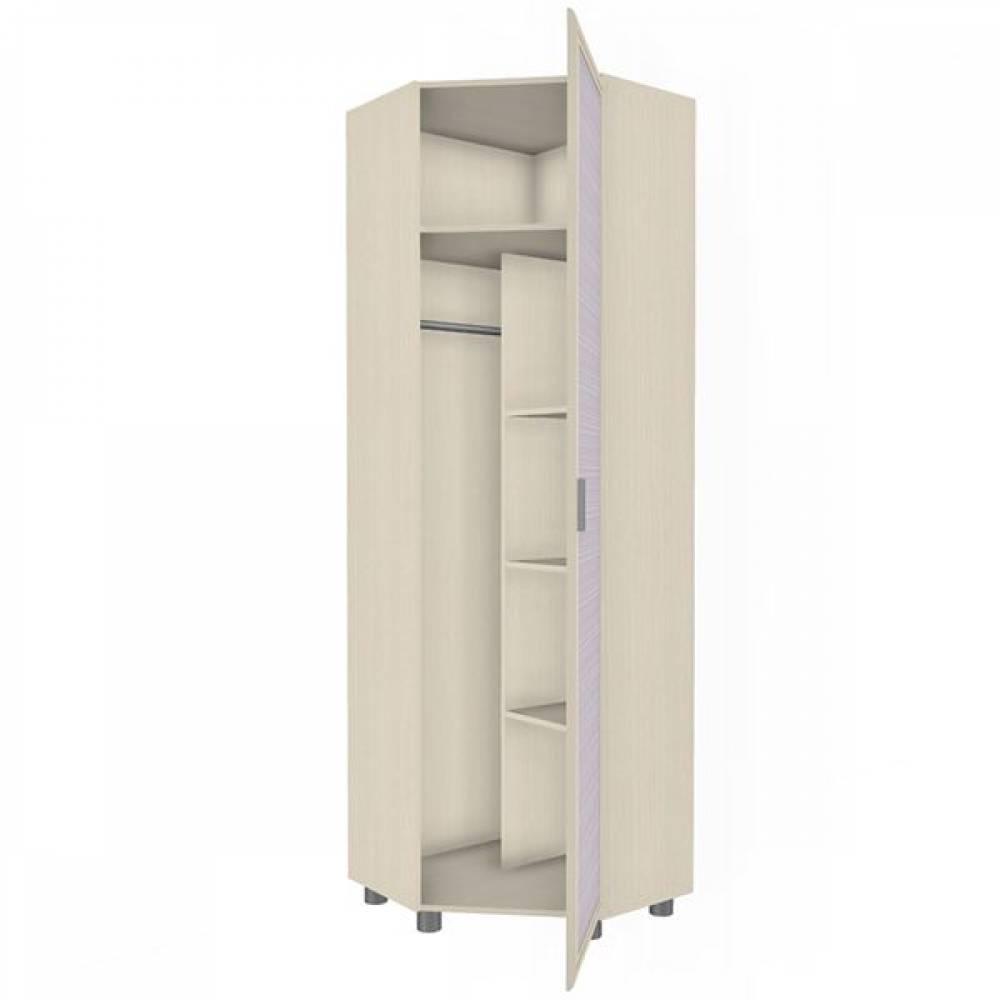 Шкаф для одежды и белья ШК-1805 КСЮША (Дуб Беленый с сиреневыми вставками)
