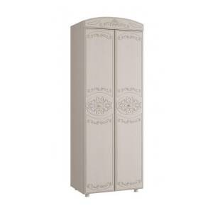Шкаф 2-х дверный комбинированный КАРОЛИНА (Вудлайн кремовый/Сандал белый)