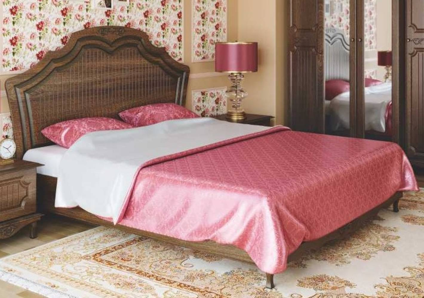 Кровать двойная 1600 с ортопедическим основанием 06.121 КАНТРИ (Дуб кальяри)