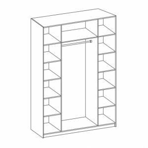 Корпус шкафа для одежды 06.39 ГАБРИЭЛЛА (Дуб кальяри/Дуб коньяк)