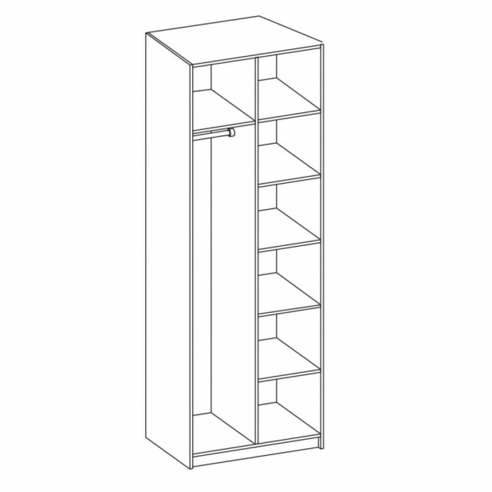 Корпус шкафа для одежды 06.55 ГАБРИЭЛЛА (Дуб кальяри/Дуб коньяк)