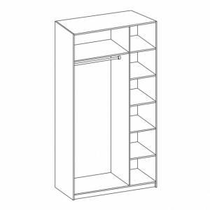 Корпус шкафа для одежды 06.56 ГАБРИЭЛЛА (Дуб кальяри/Дуб коньяк)
